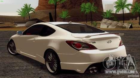 Hyundai Genesis Tunable für GTA San Andreas rechten Ansicht