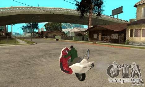 Honda Forza pour GTA San Andreas sur la vue arrière gauche