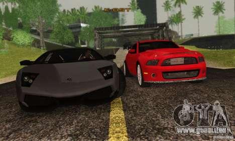 Lamborghini Murcielago LP 670-4 SV pour GTA San Andreas vue intérieure
