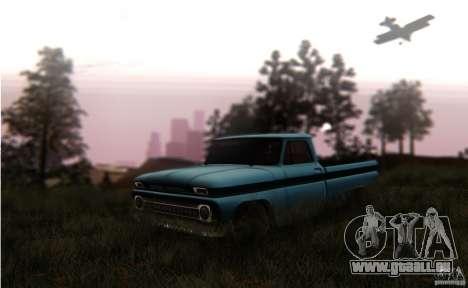 Chevrolet C10 pour GTA San Andreas vue de droite