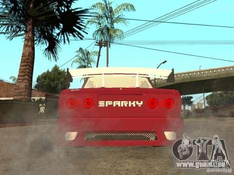 VAZ 2107 Sparky für GTA San Andreas zurück linke Ansicht