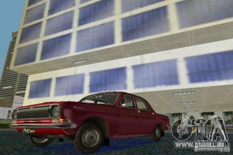 GAZ Volga 24 pour une vue GTA Vice City de la gauche