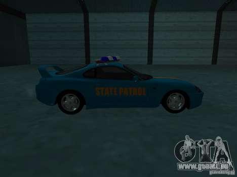Toyota Supra California State Patrol für GTA San Andreas Seitenansicht