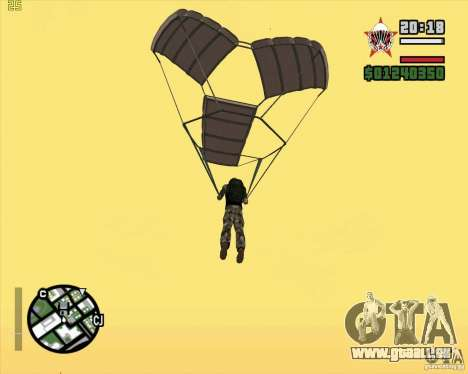 Die neue Fallschirm für GTA San Andreas