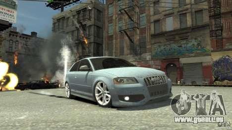 Audi S3 2009 pour GTA 4 est une vue de l'intérieur