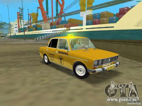 VAZ 2106 Taxi V 2.0 für GTA Vice City linke Ansicht