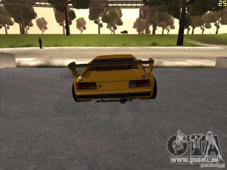 BMW M1 Procar pour GTA San Andreas sur la vue arrière gauche