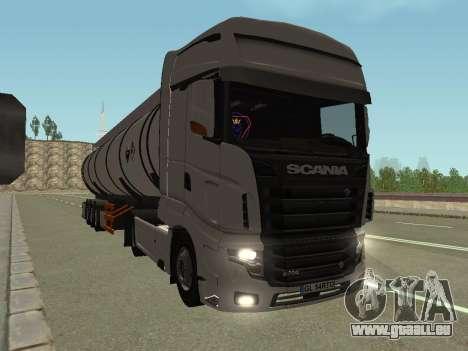 Scania R700 Euro 6 pour GTA San Andreas sur la vue arrière gauche