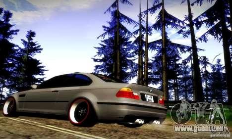 BMW M3 JDM Tuning pour GTA San Andreas vue arrière