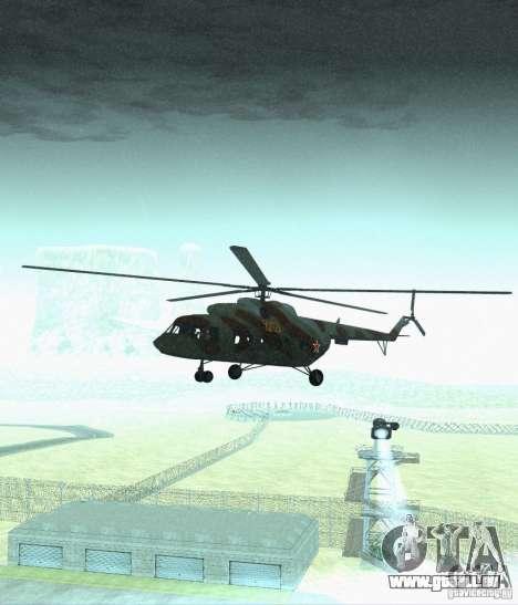 Militaires MI-17 pour GTA San Andreas vue arrière