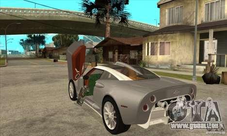Spyker C8 Aileron pour GTA San Andreas sur la vue arrière gauche