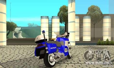 Russische Polizeimotorrad für GTA San Andreas linke Ansicht