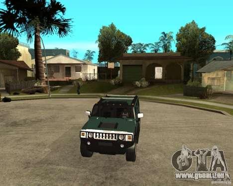 AMG H2 HUMMER SUV pour GTA San Andreas vue arrière