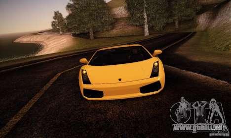 Lamborghini Gallardo pour GTA San Andreas laissé vue