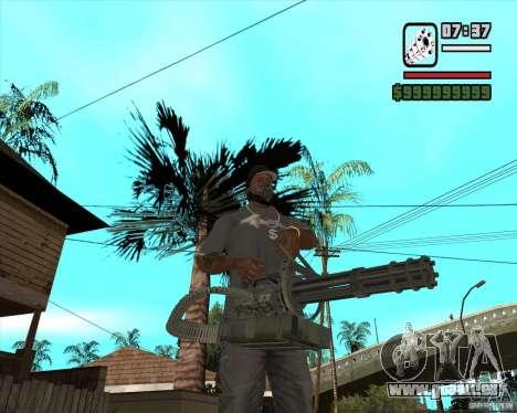 Hand Held M134 Minigun für GTA San Andreas zweiten Screenshot
