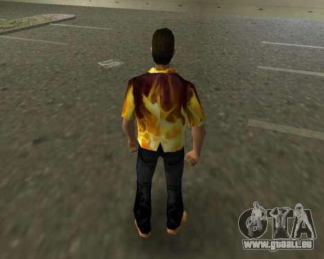 Chemise avec flammes GTA Vice City pour la troisième écran