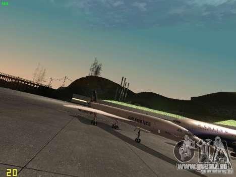 Aerospatiale-BAC Concorde Air France pour GTA San Andreas sur la vue arrière gauche