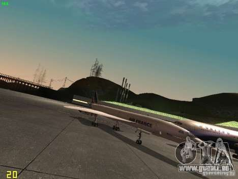 Aerospatiale-BAC Concorde Air France für GTA San Andreas zurück linke Ansicht