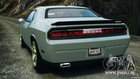 Dodge Challenger SRT8 2009 [EPM] pour GTA 4 Vue arrière de la gauche