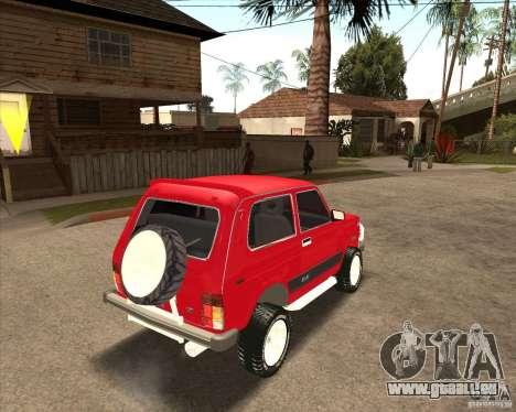 VAZ 21213 4 x 4 pour GTA San Andreas moteur