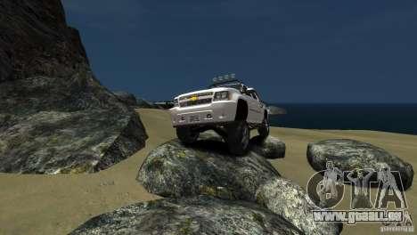Chevrolet Avalanche 4x4 Truck pour GTA 4 est une vue de l'intérieur