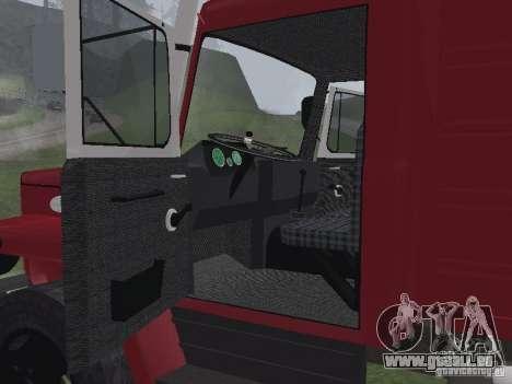 Feu GAZ 3309 pour GTA San Andreas vue de droite