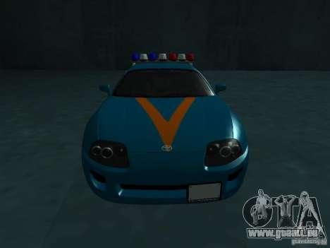 Toyota Supra California State Patrol für GTA San Andreas Rückansicht