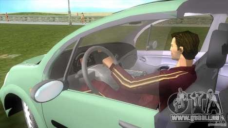 Citroen C3 pour GTA Vice City sur la vue arrière gauche