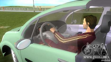 Citroen C3 für GTA Vice City zurück linke Ansicht