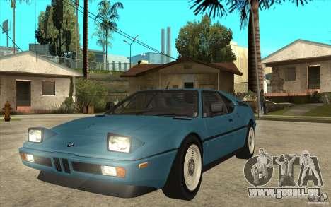 BMW M1 1981 für GTA San Andreas