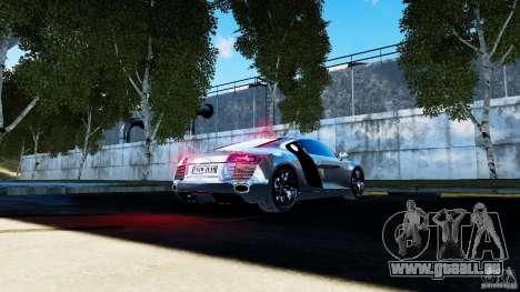 Audi R8 Spider 2011 für GTA 4 Seitenansicht