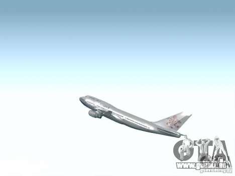 Boeing 747-400 China Airlines pour GTA San Andreas vue de côté