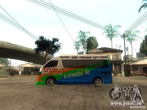 Toyota Commuter VIP Van für GTA San Andreas linke Ansicht
