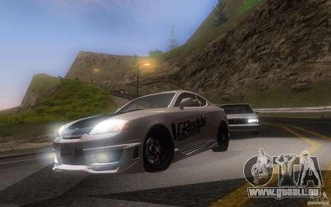 Hyundai Tiburon V6 Coupe tuning 2003 pour GTA San Andreas laissé vue