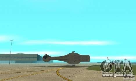 YT-2400 Gazette für GTA San Andreas obere Ansicht