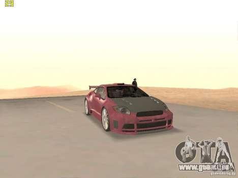 Mitsubishi Eclipse GT NFS-MW pour GTA San Andreas vue de côté