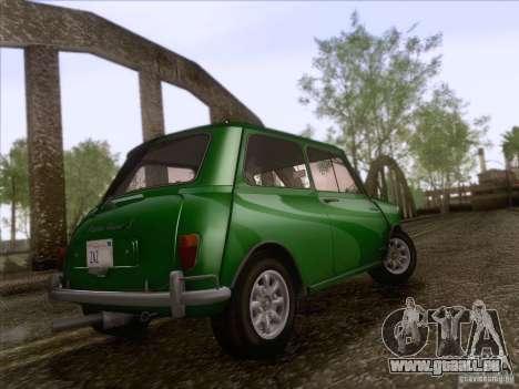 Austin Cooper S 1965 für GTA San Andreas Rückansicht