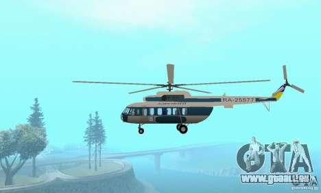 MI-17 zivil (ukrainisch) für GTA San Andreas zurück linke Ansicht