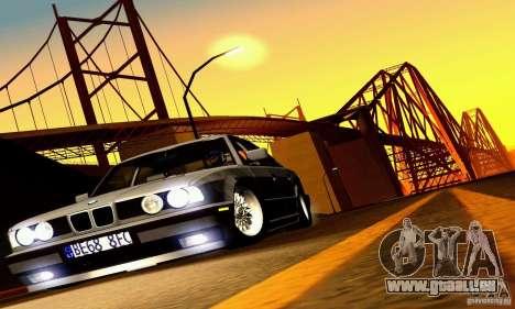 BMW E34 525i für GTA San Andreas obere Ansicht