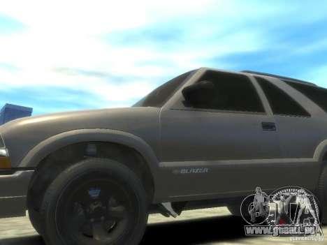 Chevrolet Blazer LS 2dr 4x4 pour GTA 4 Vue arrière de la gauche