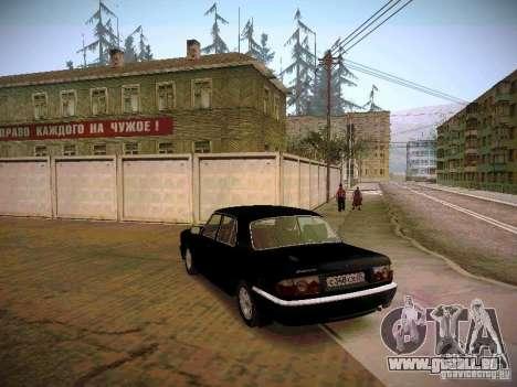 GAZ Volga 31105 S60 pour GTA San Andreas sur la vue arrière gauche
