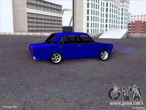 ВАЗ dérive de 2107 pour GTA San Andreas vue arrière