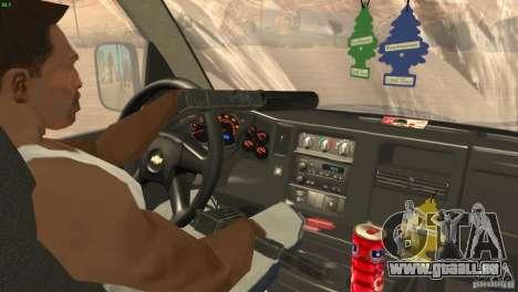 Chevrolet Savana 3500 Cargo Van für GTA San Andreas Innenansicht