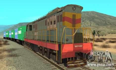 Locomotive ChME3-4287 pour GTA San Andreas laissé vue