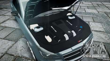 Mercedes Benz CLS 63 AMG 2012 für GTA 4 Unteransicht