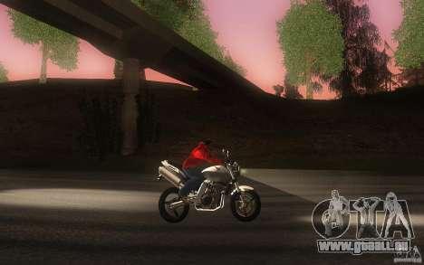 Honda CBF 600 Hornet für GTA San Andreas Innenansicht