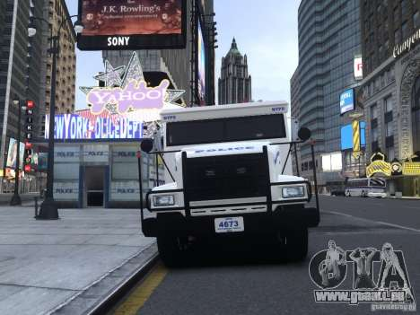 Enforcer Emergency Service NYPD für GTA 4 linke Ansicht