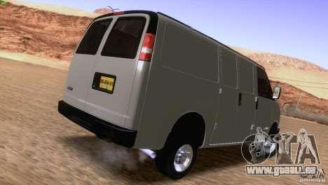 Chevrolet Savana 3500 Cargo Van für GTA San Andreas rechten Ansicht