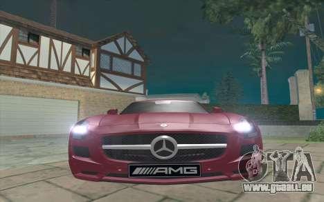 Mercedes-Benz SLS AMG 2011 V3.0 pour GTA San Andreas laissé vue