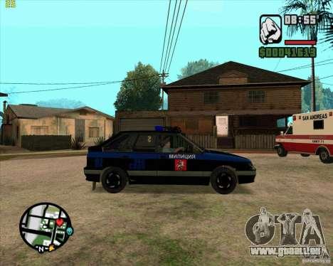 ВАЗ 2114 DPS tuning pour GTA San Andreas sur la vue arrière gauche